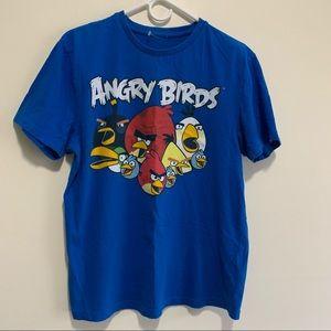 Angry Birds Graphic Minimalist Cartoon Characters 100% Cotton Fun Tee shirt